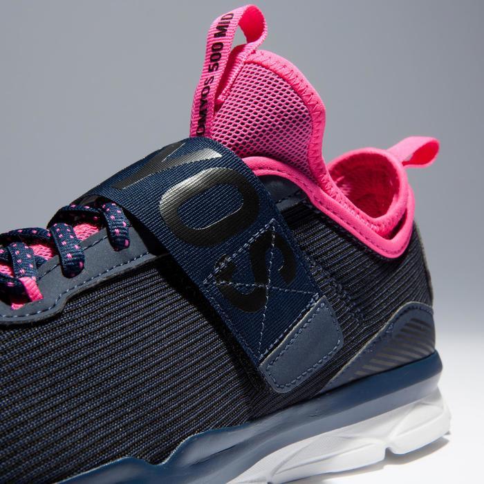 Chaussures fitness cardio-training  500 mid femme bleu et rose - 1341006