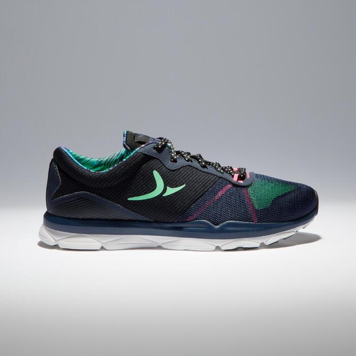 Chaussures fitness cardio-training 500 femme bleu et - 1341010