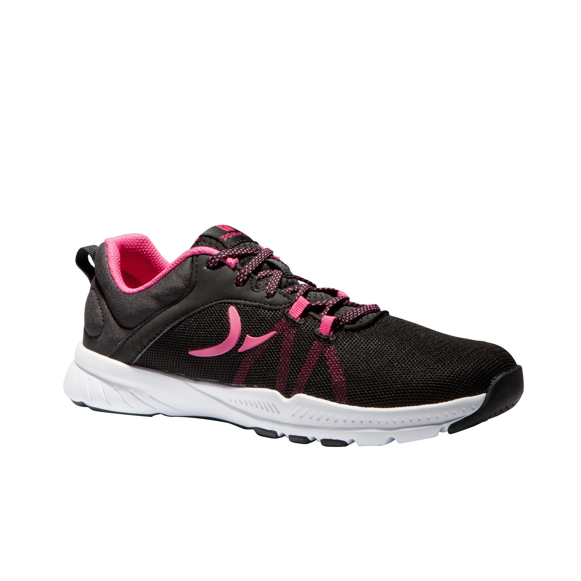 molto carino 87f3b 6fcfe Scarpe fitness - Scarpe donna cardio fitness 100 nero-rosa