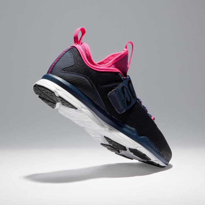 Fitnessschoenen cardiotraining 500 Mid dames blauw en roze