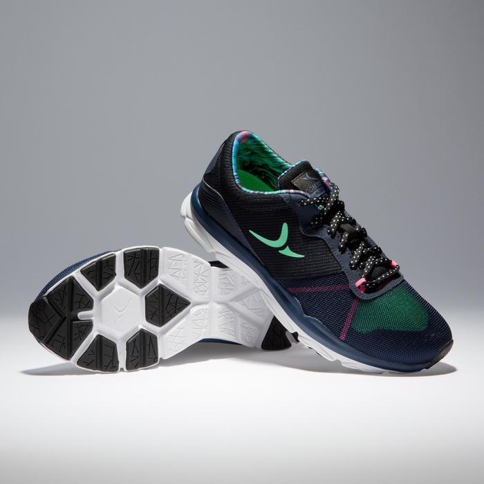 Chaussures fitness cardio-training 500 femme bleu et - 1341026