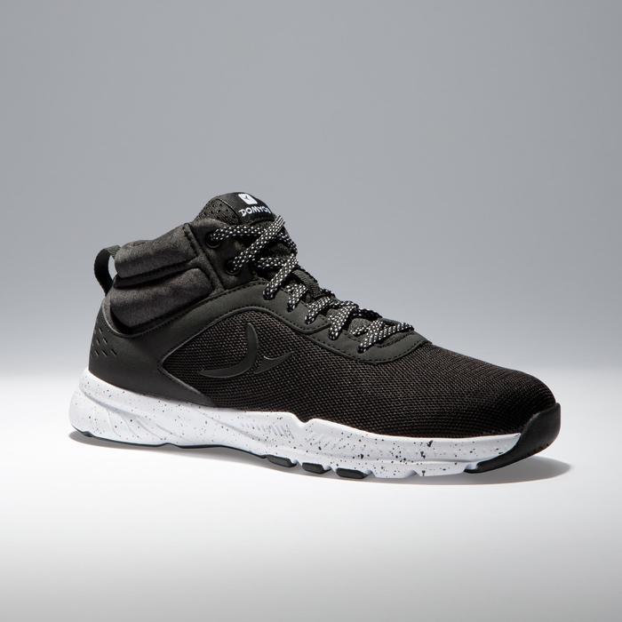 Chaussures fitness cardio-training 100 mid femme noir - 1341030