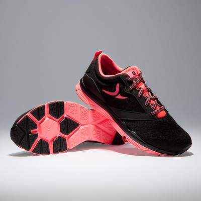 500 נעלי ספורט לאימון אירובי לנשים – שחור / ורוד