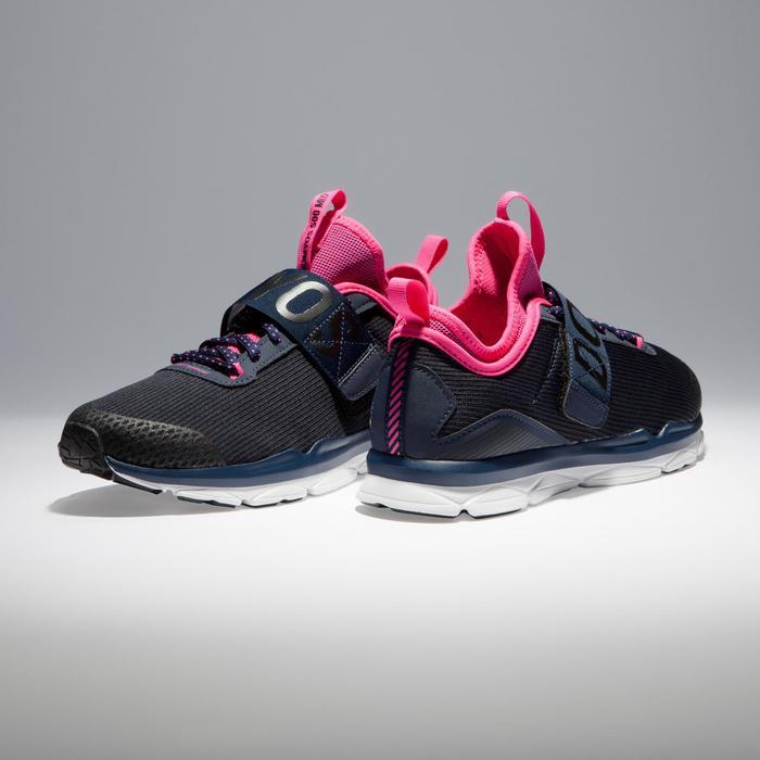 Chaussures fitness cardio-training  500 mid femme bleu et rose - 1341033