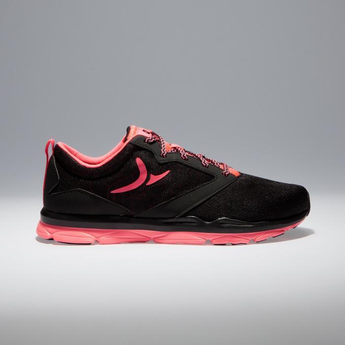 Chaussures fitness cardio-training 500 femme noir et - 1341035