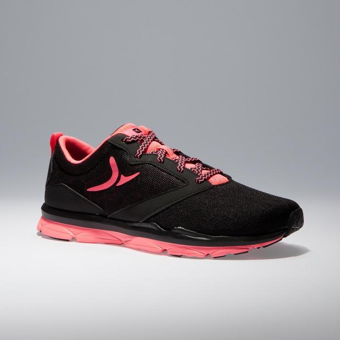 Chaussures fitness cardio-training 500 femme noir et - 1341038