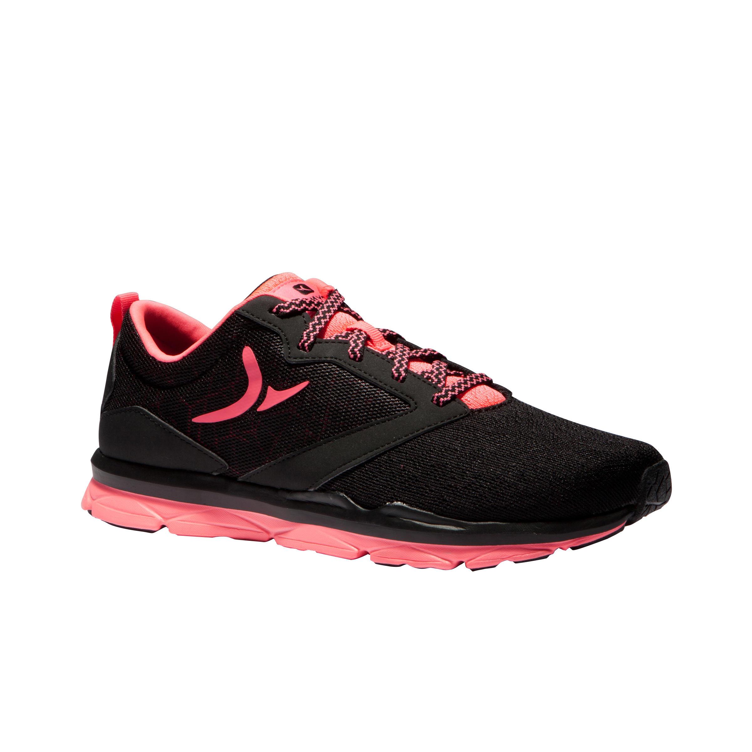 Rose Cardio Femme 500 Chaussures D'entraînement Noir Et W29EDHIY