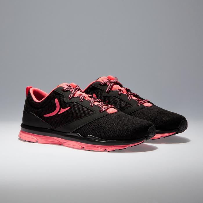 Chaussures fitness cardio-training 500 femme noir et - 1341046