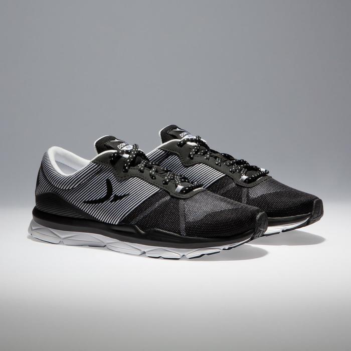 Chaussures fitness cardio-training 500 femme noir et blanc