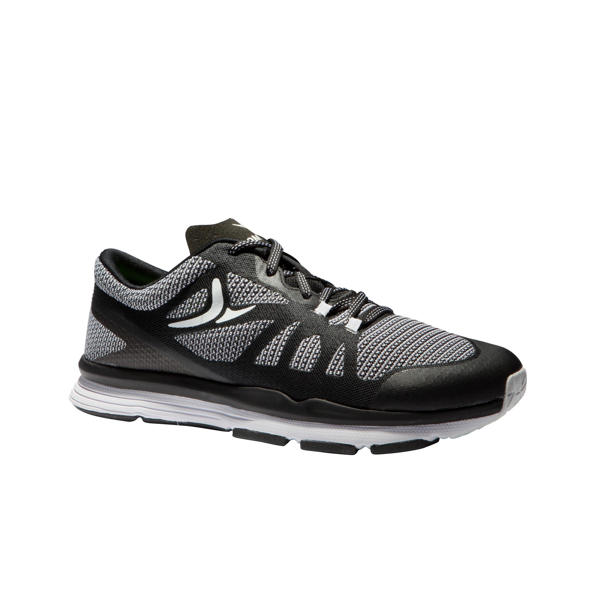 2314541 Domyos Cardiofitness schoenen 900 voor dames zwart en wit