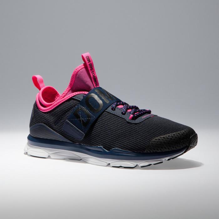 Chaussures fitness cardio-training  500 mid femme bleu et - 1341064