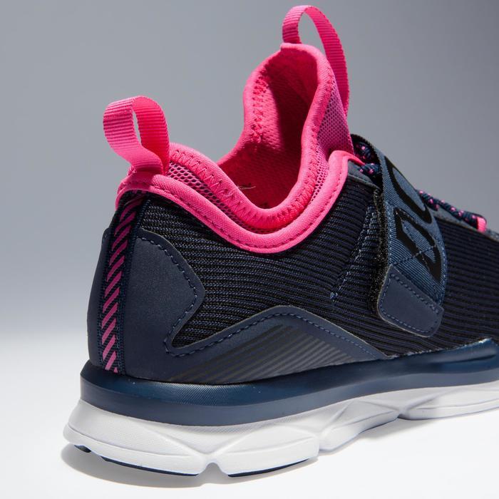 Chaussures fitness cardio-training  500 mid femme bleu et rose - 1341075