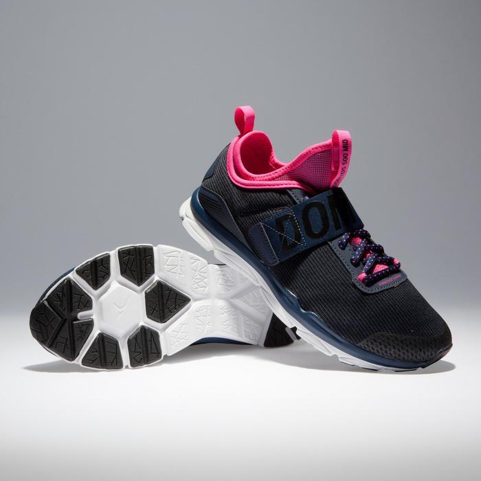 Chaussures fitness cardio-training  500 mid femme bleu et rose - 1341078