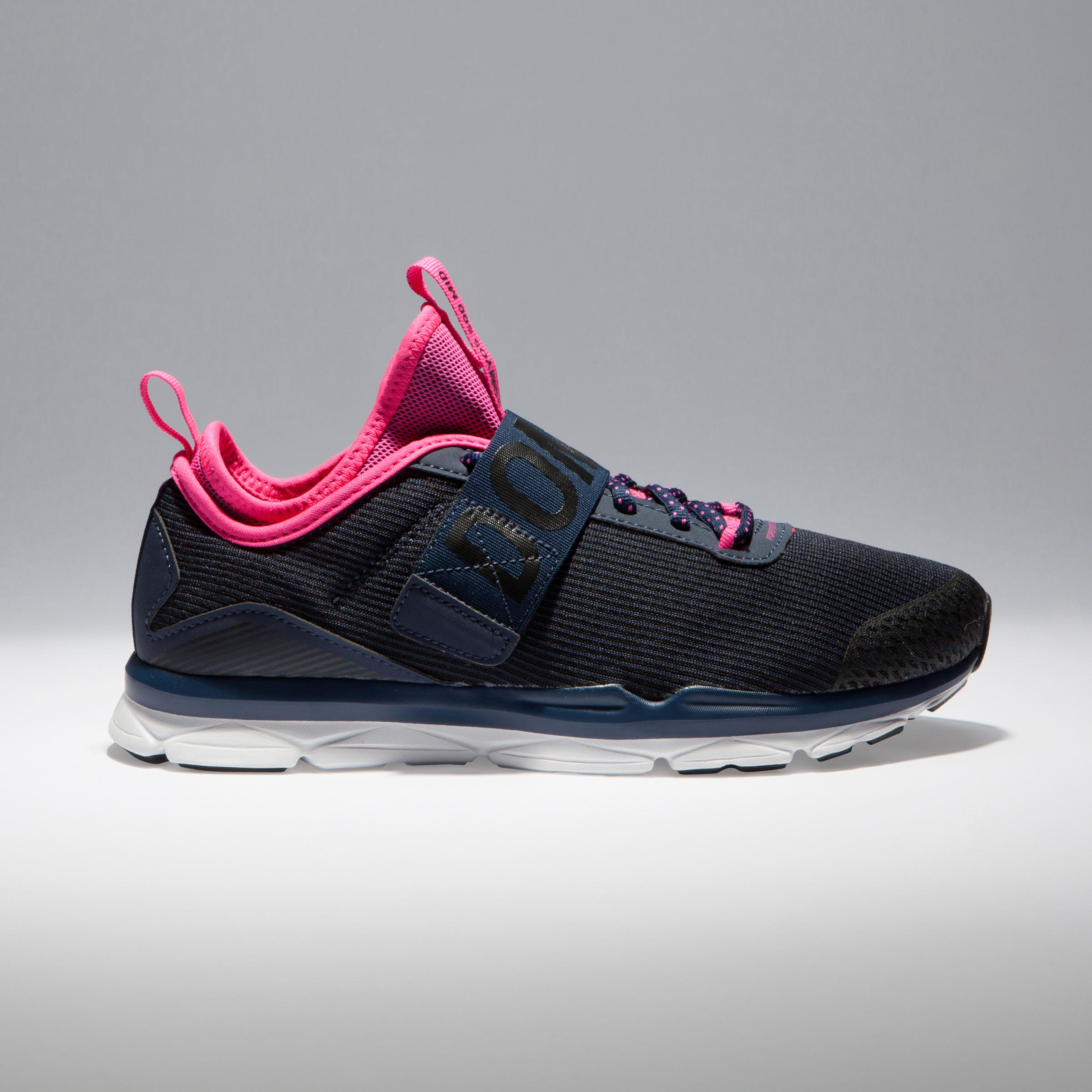 500 Mid Women's Cardio Fitness Shoes - Blue/Pink