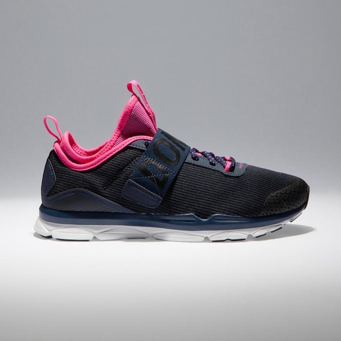 Chaussures fitness cardio-training  500 mid femme bleu et rose - 1341079