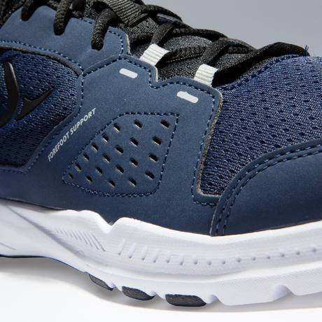 f1f606e1ba Chaussures fitness cardio-training 100 homme noir et bleu   Domyos ...