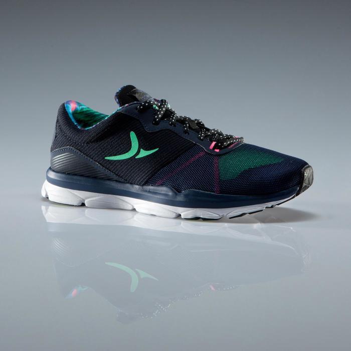 Chaussures fitness cardio-training 500 femme bleu et - 1341084