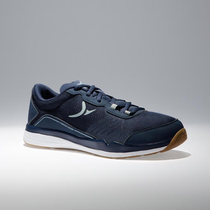 Zapatillas fitness cardio-training 500 hombre Azul y Gris