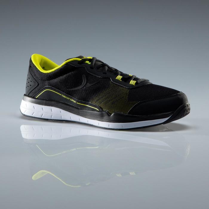 Cardiofitnessschoenen 500 voor heren zwart en geel