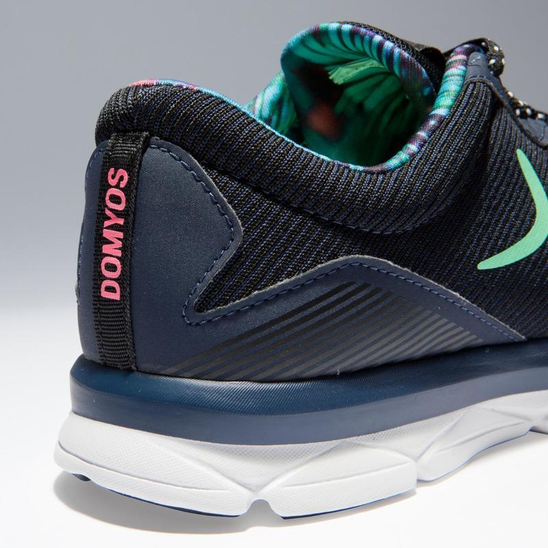 Buenos precios brillante en brillo el más nuevo Calzado de fitness - Zapatillas Fitness Cardio Dance Domyos 500 Adulto  Azul/Verde