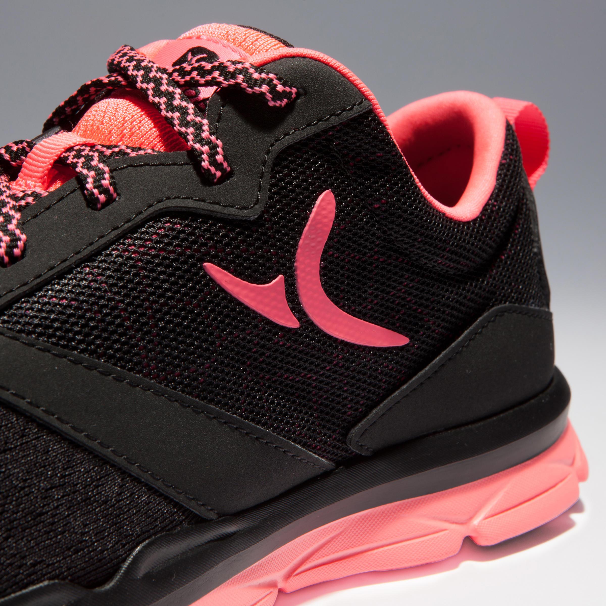 Chaussures d'entraînement cardio 500 femme noir et rose