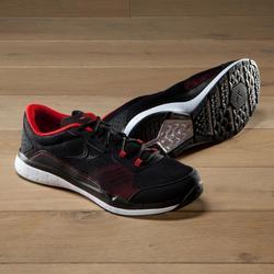 Zapatillas fitness cardio-training 500 hombre Negro y Rojo