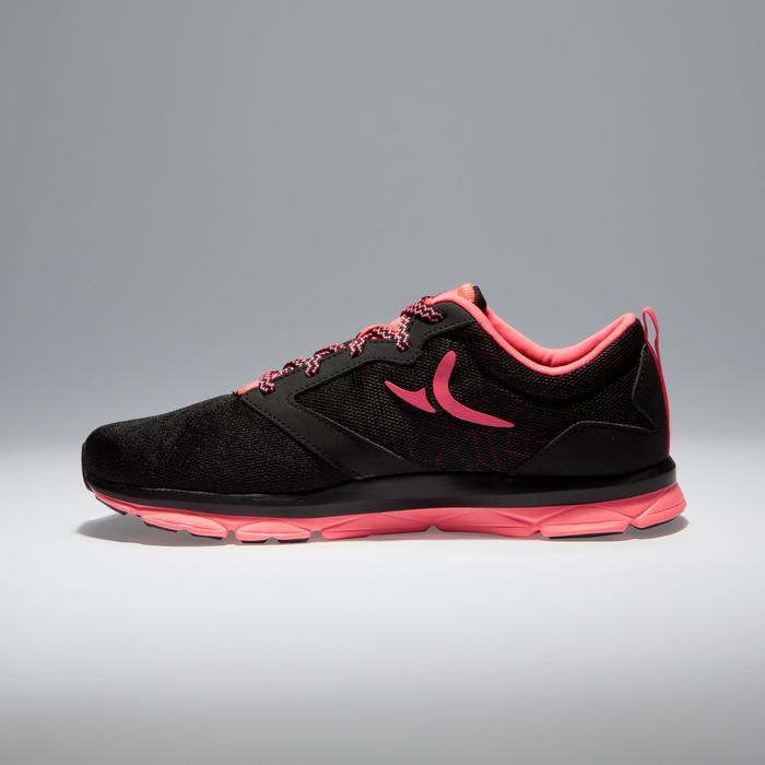 Fitnessschoenen Cardio 500 voor dames zwart en roze