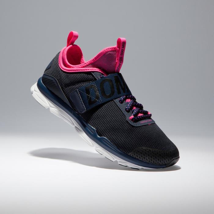 Chaussures fitness cardio-training  500 mid femme bleu et rose - 1341110