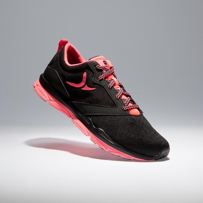 Chaussures fitness cardio-training 500 femme noir et - 1341114