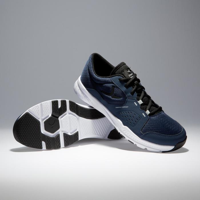 Chaussures fitness cardio-training 100 homme noir et bleu - 1341115