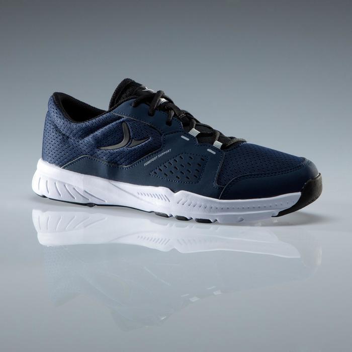 Chaussures fitness cardio-training 100 homme noir et bleu - 1341124