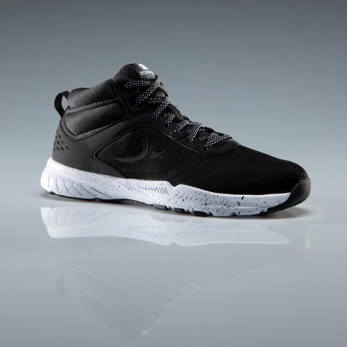Chaussures fitness cardio-training 100 mid femme noir - 1341127