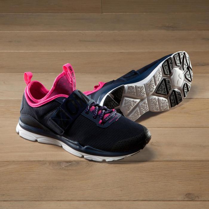 Chaussures fitness cardio-training  500 mid femme bleu et - 1341128