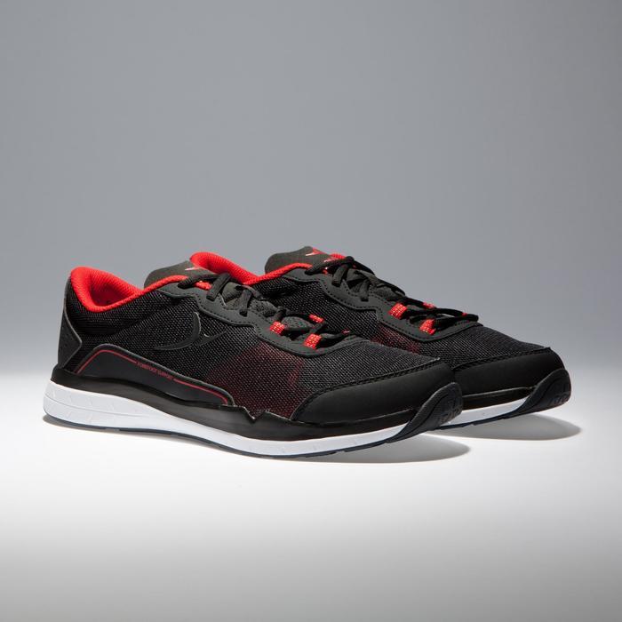 Fitnessschuhe Cardio 500 Herren schwarz/rot