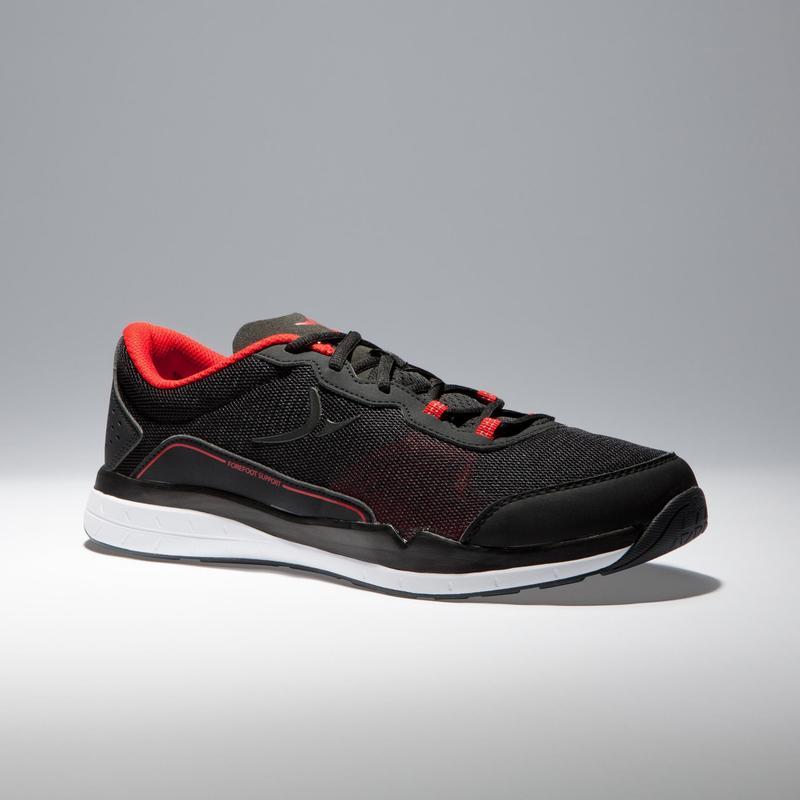 Zapatillas fitness cardio-training 500 hombre Negro y Rojo 2018 ... 5439ad27f27e