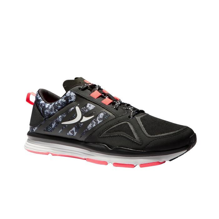 Chaussures fitness cardio 900 femme noir et rose
