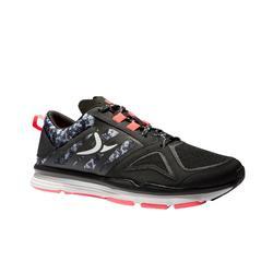 女性有氧健身運動鞋 900 - 黑色及粉紅