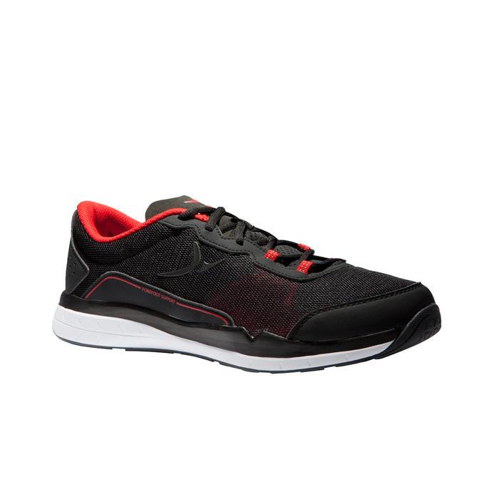 Cardiofitnessschoenen 500 voor heren zwart en rood