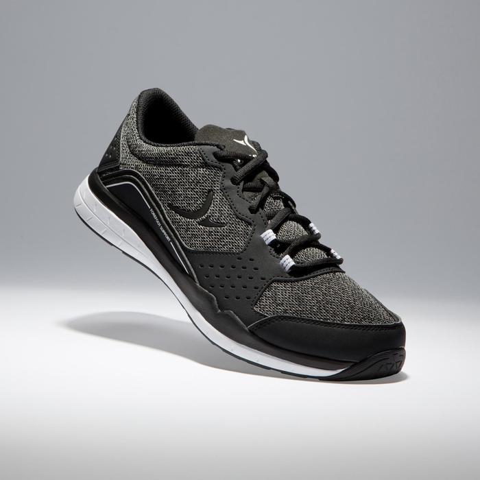 Zapatillas de fitness cardio 500 para hombre negro y gris