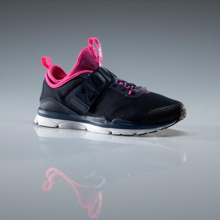Chaussures fitness cardio-training  500 mid femme bleu et rose - 1341169