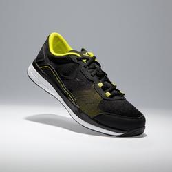 Fitnessschuhe Cardio 500 Herren schwarz/gelb