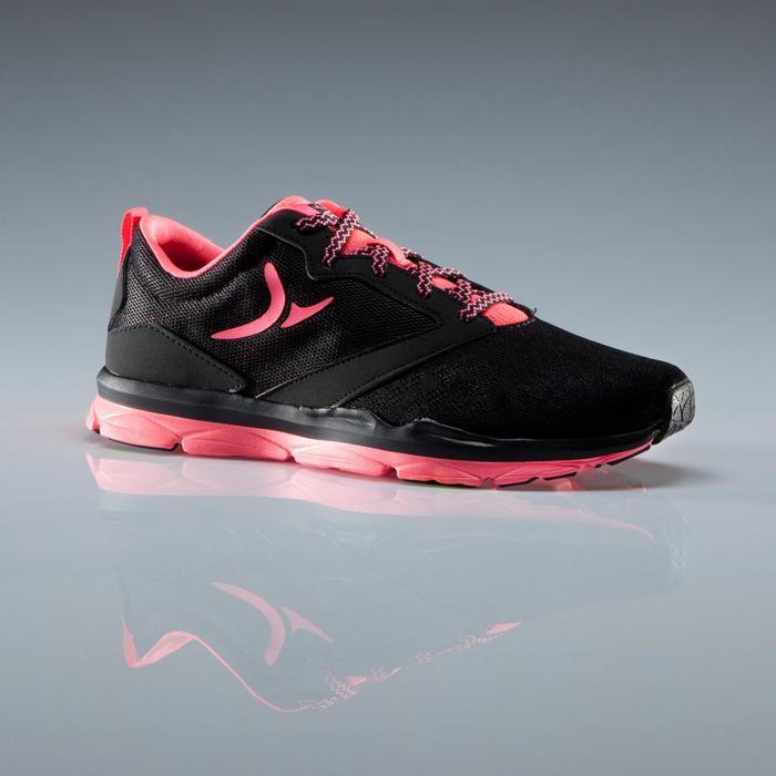 Chaussures fitness cardio-training 500 femme noir et - 1341185