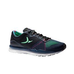 Chaussures fitness cardio 500 femme bleu et vert