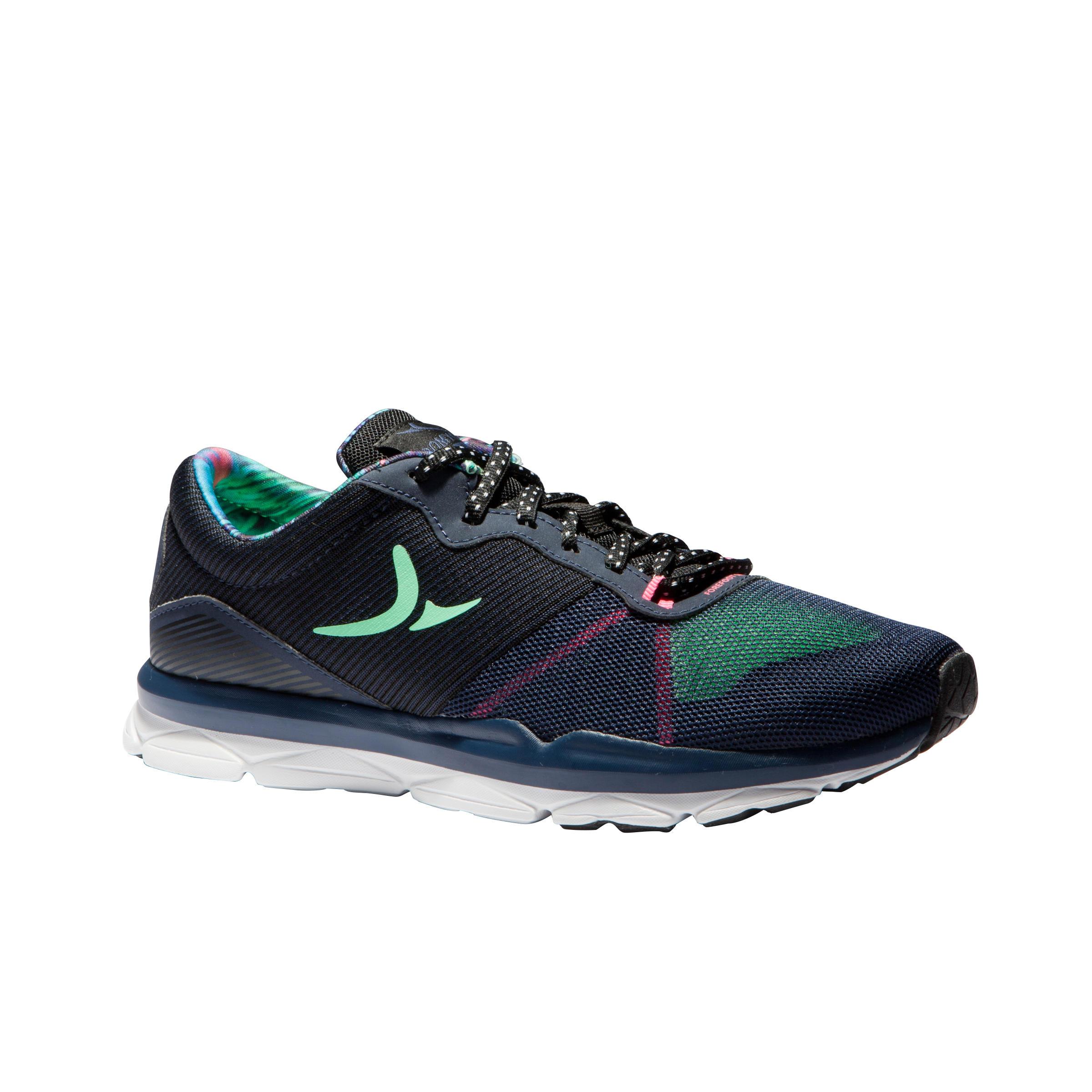 Chaussures entraînement cardio 500 femme bleu et vert Domyos