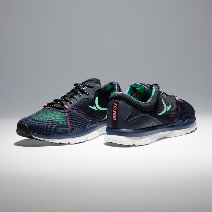 Chaussures fitness cardio-training 500 femme bleu et - 1341194