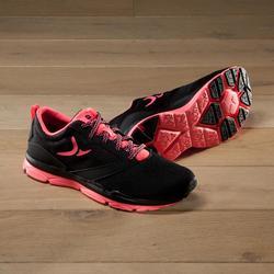 Zapatillas fitness cardio-training 500 mujer negro y rosa