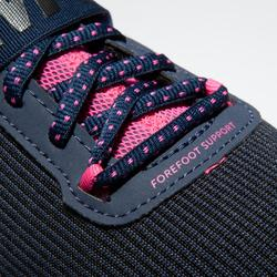 Fitnessschuhe Cardio 500 Mid Damen blau/rosa