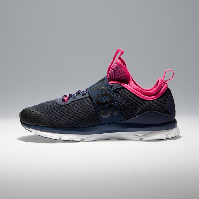 Chaussures fitness cardio-training  500 mid femme bleu et - 1341218