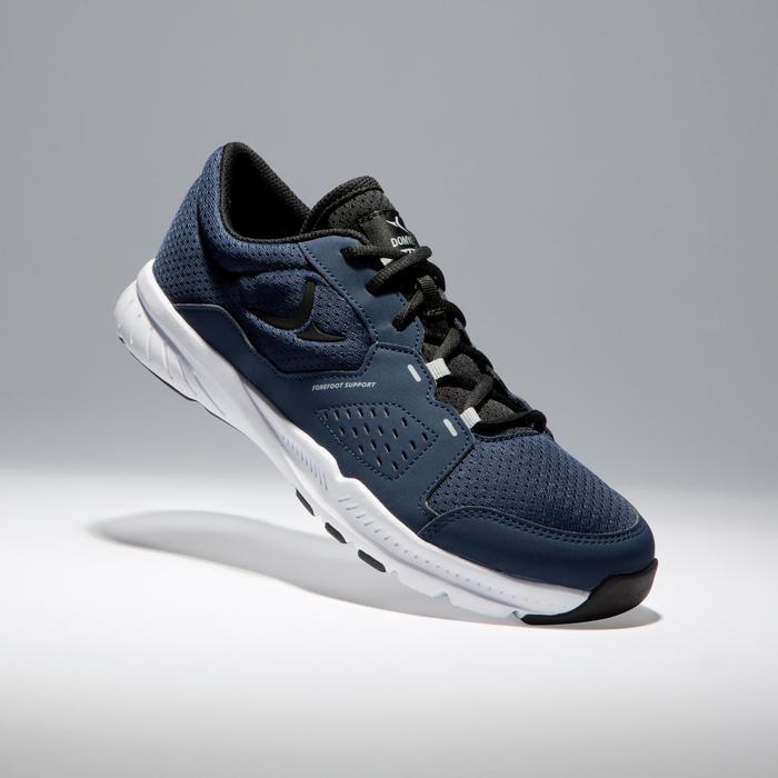 Zapatillas gimnasio Fitness Cardio Domyos 100 hombre negro azul