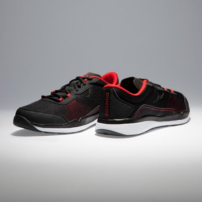 Chaussures fitness cardio-training 500 homme noir et rouge